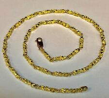 """chain/necklace 30"""" 40 grams 4 Mm 14kt Solid Yellow Gold Handmade Nugget Link"""