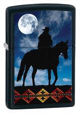 COWBOY MOON ZIPPO LIGHTER - NAME CUSTOM ENGRAVED FREE ON BACKSIDE