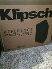 Klipsch RB-61 II Reference Series Bookshelf Speakers set Black - NEW open box