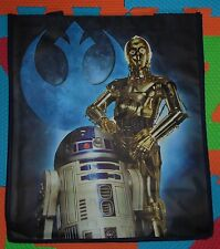 "*DISNEY LUCASFILM LARGE STAR WARS R2-D2 & C-3PO REUSABLE TOTE BAG*13.5""X15.5""x7"""