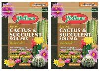 Hoffman 10410 Organic Cactus and Succulent Soil Mix, 10 Quarts, 2 Units