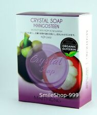 Crystal Soap Mangosteen Bar Maithong Organic Natural Reduce Acne Rash Body Face