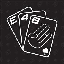 Jeu De Cartes E46 - Tuning Sticker , Choquant Fun Autocollants Pour Voiture,