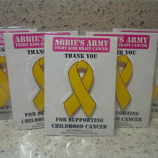 Gold Childhood Cancer Awareness Pin Badges