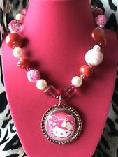 Tarina Tarantino Vintage Pink Head Collection Hello Kitty Picture Cameo Necklace