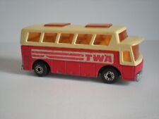VINTAGE AIRPORT COACH TWA - MATCHBOX SUPERFAST NO. 65 - 1977 MADE IN ENGLAND