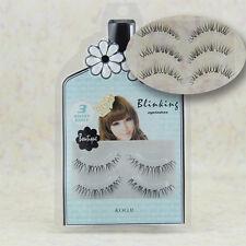 NEW Elongated False Eyelash Soft Natural Transparent Stem Black Eye End