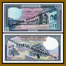 Lebanon 100 Livres, 1988 P-66d Unc