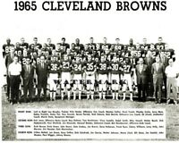 NFL 1965 Cleveland Browns Team Photo Picture Black & White 8 X 10 Photo Picture