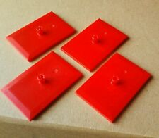 New LEGO Train red bogie plate x4 (railway 4x6 flat tile with 1 vertical pin)k