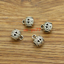 20 Barrel Beads with 3.5-4mm hole Large European Bead Spacer Antique Silver 3314