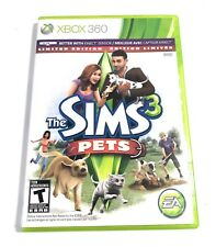 The Sims 3: Pets -- Limited Edition Microsoft Xbox 360, 2011 ENGLISH AND FRENCH