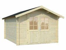 34 mm Gartenhaus 3x4 m (BxT) Blockhaus Holzhaus Schuppen Hütte Gerätehaus Holz