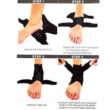 Elastic Sports Pain Relief Compression Ankle Brace Support Stabilizer Foot Wrap