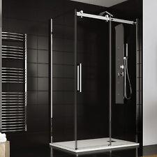 Box doccia 80x100 cm scorrevole cabina doccia trasparente cristallo anticalcare