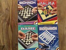 4 Magnet Spiele / Schach - Dame - Halma - Backgammon