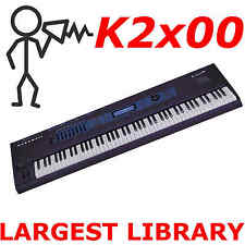 Kurzweil K 2000 2500 2600, K2661, PC3K8 Largest Sound Program KRZ Library