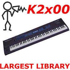 Kurzweil K 2000 2500 2600, K2661, PC3K8 Largest Sound Program KRZ Library