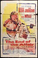 THE END OF THE AFFAIR Deborah Kerr ORIGINAL 1955 ONE SHEET MOVIE POSTER 27 x 41