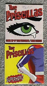 "THE PRISCILLAS 7"" VINYL SINGLE RECORDS SIGNED CLEAR VINYL PUNK /  GARAGE PUNK"