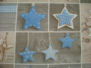 4 Metre Blue Shabby Chic Decorations Curtain Upholstery Cushion Craft Use Fabric