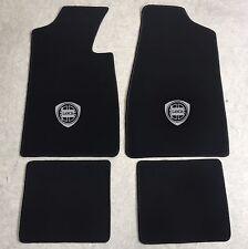 Autoteppich Fußmatten für Lancia Fulvia Coupe schwarz silber 1965-1976 4tlg Neu
