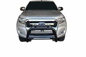 "Black Nudge Bar S/S 304 3"" LED Light Bumper Guard for Ford Ranger 11-18 PX1 PX2"
