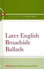 USED (LN) Later English Broadside Ballads by John Holloway
