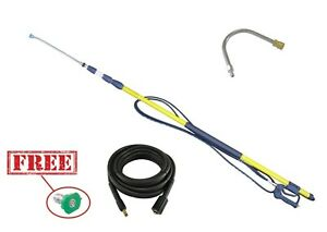 24ft Telescopic Pole Extendable Karcher K-Series & Gutter Cleaning Tool + 10m