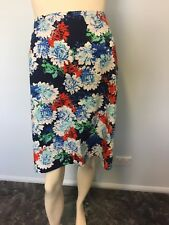 Susan multi coloured floral straight skirt size 16