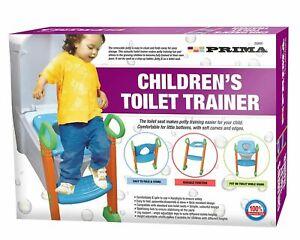 Potty Toilet Seat Adjustable Baby Toddler Kid Toilet Trainer Step Stool Ladder