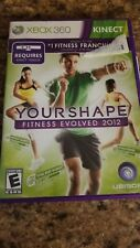 YOUR SHAPE FITNESS EVOLVED 2012 XBOX 360 KINECT GAME USED WITH MANUAL
