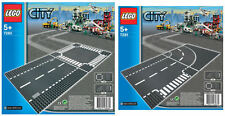 LEGO® City 7280 Straight and Crossroad + 7281 T-Junction and Curve Road Plates