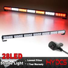 """31"""" 28 LED Emergency Warning Advisor Traffic Strobe Light Bar Red White Amber"""
