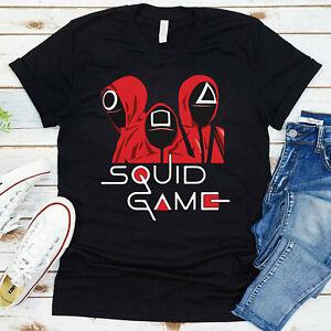 Squid Game T Shirt Costume TV Show Korean Drama Horror Halloween Kids Tee Gift