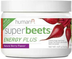 HumanN SuperBeets Energy Plus Grape Seed Extract, Beetroot Supplement 5.87oz