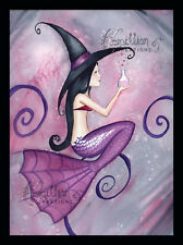 Love Potion Witch Mermaid print from Original Painting By Grimshaw Halloween
