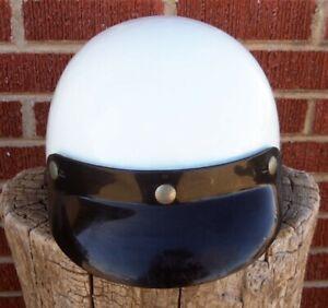 Vtg 1970s HARLEY DAVIDSON model C Motorcycle Half Helmet Large chopper bobber