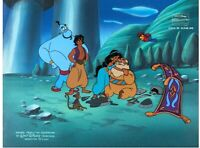 Aladdin Original Production cel Background obg Key Master Genie Robin Williams