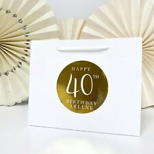 Personalised BIG BIRTHDAY bag | LUXURY FOIL BOUTIQUE | Rose Gold party gift bags