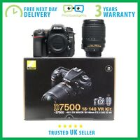 New Nikon D7500 20.9MP CMOS 4K DSLR With 18-140mm VR Lens - 3 Year Warranty