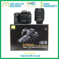 New Nikon D7500 20.9MP CMOS 4K DSLR With 18-140mm VR Lens - 3 Year Warranty