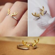 Plated Fashion Adjustable Mid Toe Ring Deer Antler Ring Horn Open Jewelry