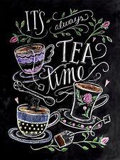 Il est toujours l'heure du thé, Rétro Vintage métal signe, Man Cave, CAFE, Cadeau