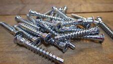 25 x 7mm x 50mm BZP CONFIRMAT COARSE THREADED FIXING SCREWS ikea mfi FLAT PACK