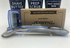 Dollar Shave Club Ultimate Starter Set - (4 Cartridges - Executive Razor Handle)