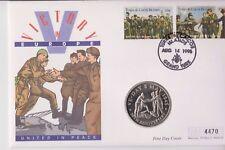 Turks & Caicos FAR rintracciare COIN COVER 5 CORONE Uniti nella vittoria di pace in Europa
