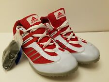 Adidas Men track and field cleets shoes red and white size 11 New w/o tags