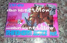 Transformers KFC CST-01J Rhinohorn Masterpiece Cassette Ramhorn in stock