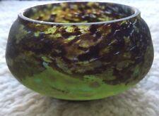 French Art Nouveau Pâte de Verre Bowl with Etched Signature Daum Nancy